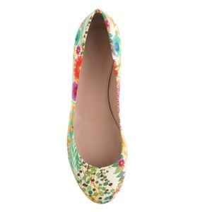 J. Crew Janey Liberty Print Flats Made in Italy